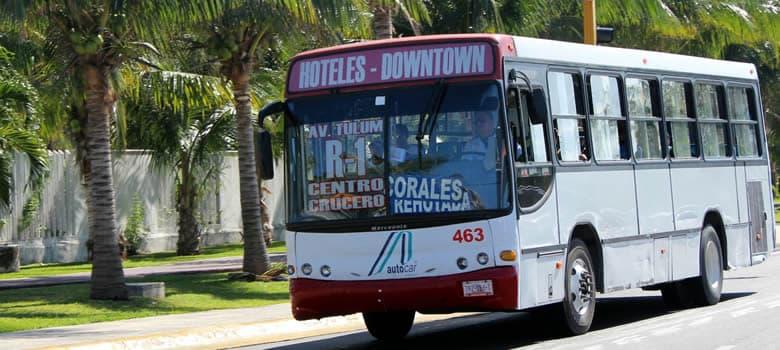 Resultado de imagen para foto transporte cancun quintana roo