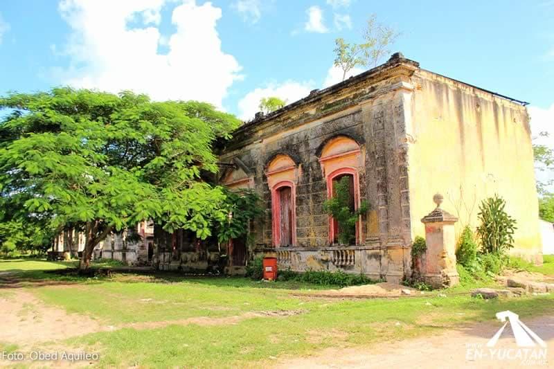 Fachada Hacienda Ruinas De Ak 233