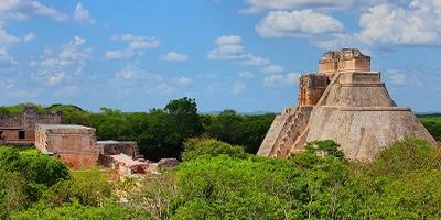 uxmal, ruinas mayas, templos mayas, casa del adivino, chaac