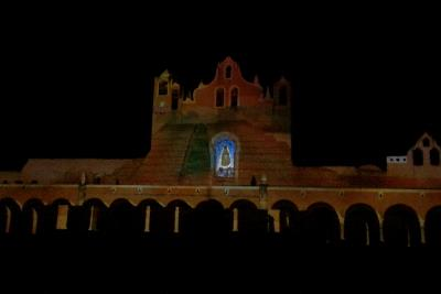 Video Maping del Convento de Izamal